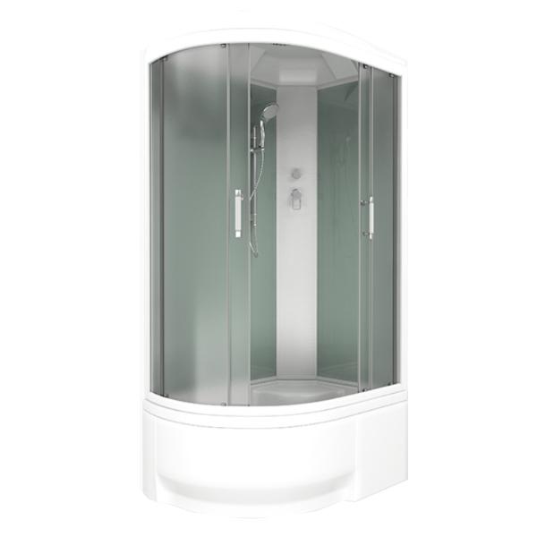 Душевая кабина Bas Фиджи 120х80 Eco стекло Грейп задняя стенка Белая R