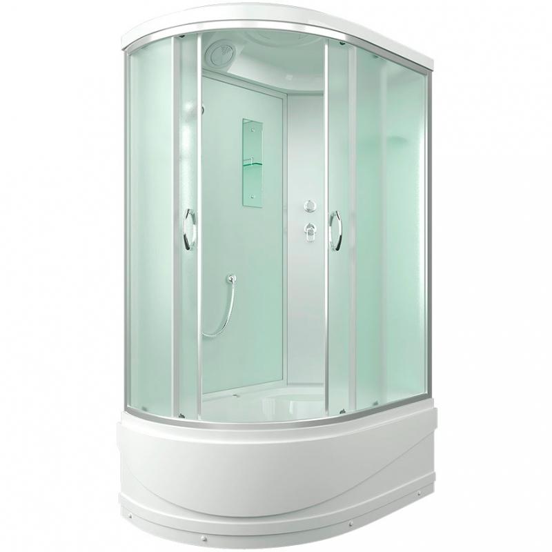 Фото - Душевая кабина Erlit Comfort ER3512TPR 120x80 задняя стенка Белая стекло матовое душевая кабина 80×80×215 см erlit comfort er3508p c3