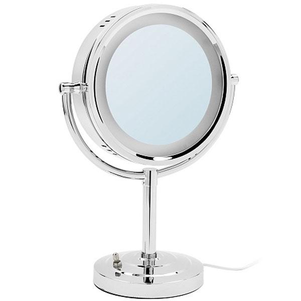 Косметическое зеркало Raiber RMM-1114 с увеличением и подсветкой Хром