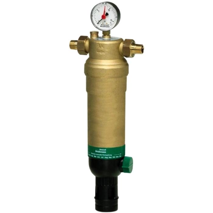 Фильтр тонкой очистки Honeywell F76S-1 1/4AAM для горячей воды с обратной промывкой