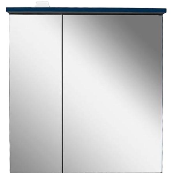Зеркальный шкаф AM PM Spirit V2.0 60 с подсветкой L Синий зеркальный шкаф am pm spirit v2 0 60 с подсветкой l синий