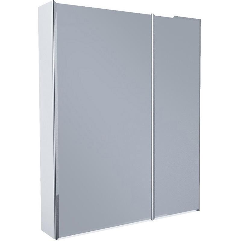 Зеркальный шкаф 1MarKa Соната 75 Белый глянцевый недорого