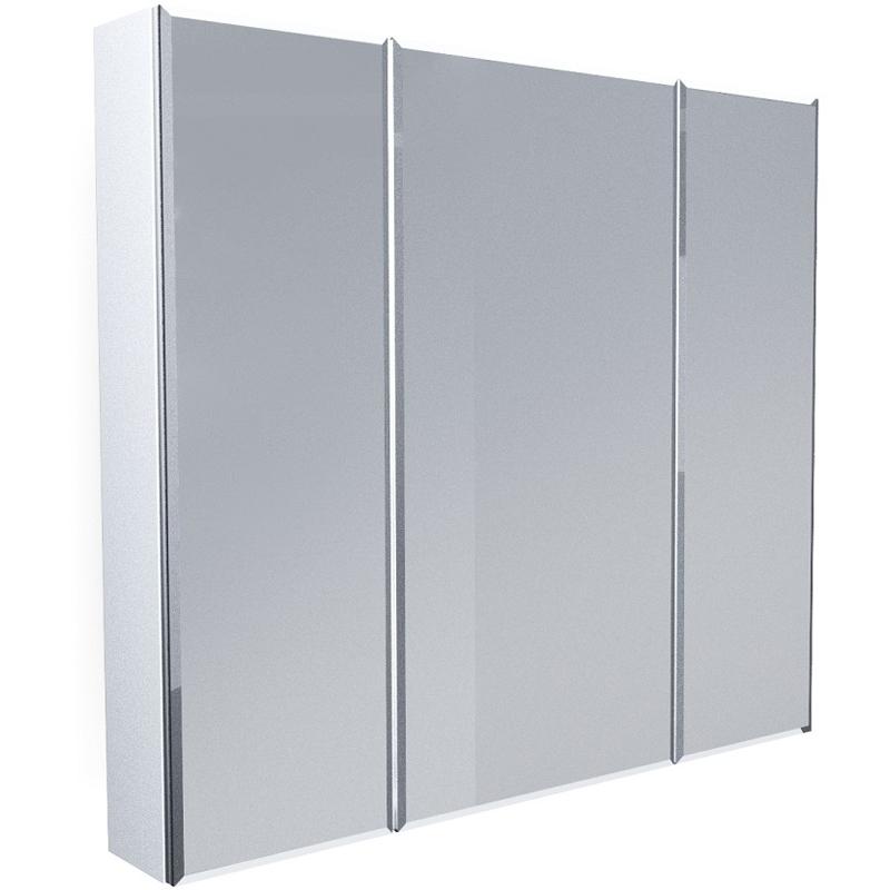 Зеркальный шкаф 1MarKa Соната 90 Белый глянцевый недорого
