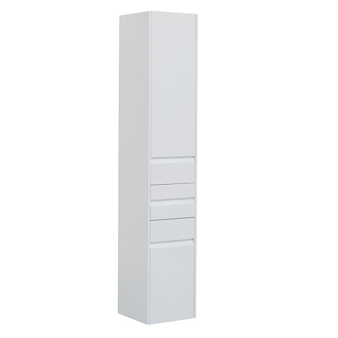 Шкаф пенал Aquanet Палермо 35 203943 подвесной Белый глянец шкаф пенал bellezza рокко 35 подвесной красный белый