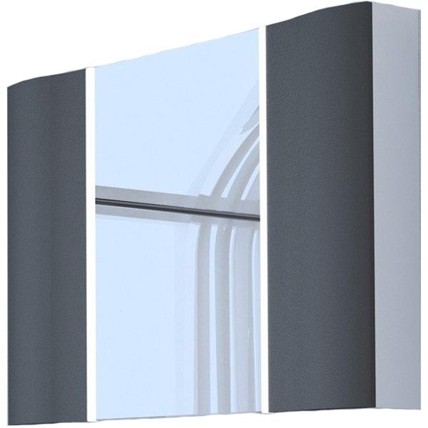 Зеркальный шкаф Акватон Ондина 100 1A176102ODG20 Графит aquaton ондина 100 1a176102odg20 графит