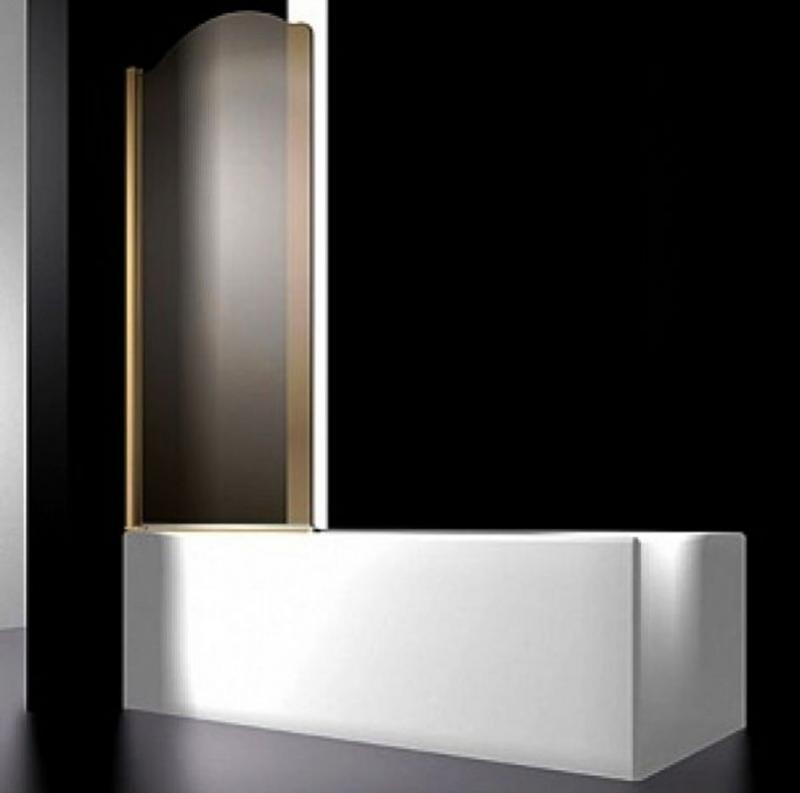 Juwel 900x1500 золото, праваяДушевые ограждения<br>Шторка на ванну правая, цвет золото Sturm Juwel 90.<br>