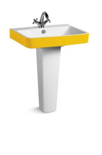 3027b Y ПодвеснаяРаковины<br>Подвесная раковина Lagutary 3027b Y.  В комплект входит пьедистал. Цвет: желто-белый.<br>
