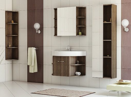 Festa 75 Венге-МалиМебель для ванной<br>Цена указана за тумбочку с раковиной (венге).Раковина из литьевого мрамора<br>