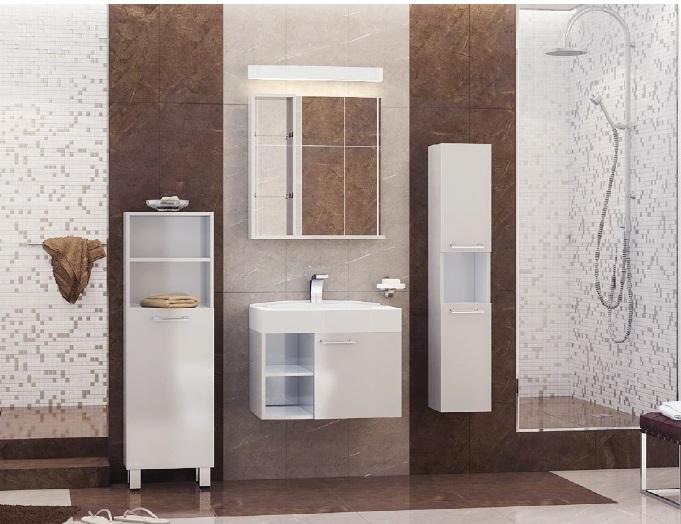 Balzo 65 покрытие шпонМебель для ванной<br>Цена указана за тумбочку с раковиной (покрытие шпон). Раковина из литьевого мрамора. Отдельно приобретаются фасады глянец разных цветов.<br>