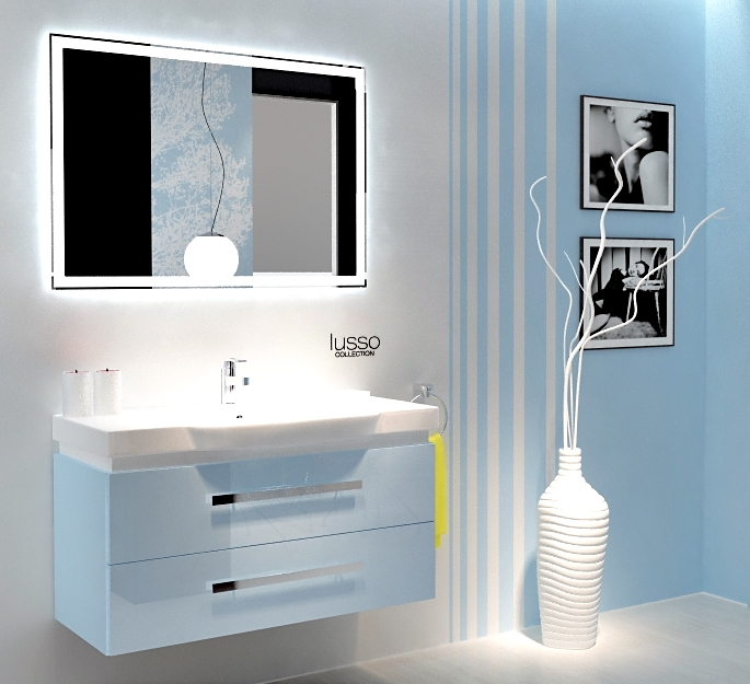Lusso LS102 ГолубойМебель для ванной<br>В стоимость входит тумба с раковиной Verona Lusso LS102. Тумба подвесная с двумя выдвижными ящиками с механизмом плавного закрытия, раковина из санфаянса. Зеркало, пеналы и шкафы приобретаются отдельно.<br>