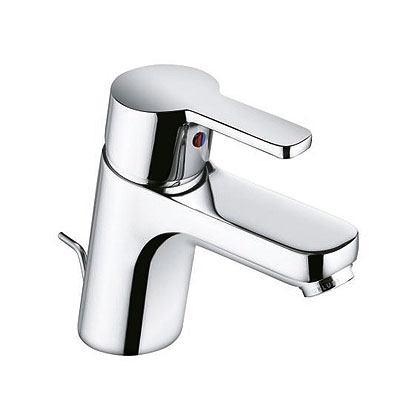 Logo Neo 372810575 ХромСмесители<br>Смеситель для умывальника Kludi Logo Neo 372810575 однорычажный, монтируемый на одно отверстие. В комплект входят: аэратор Eco M 24 x 1, керамический картридж с ограничителем горячей воды, донный клапан G 1 1/4, система быстрого монтажа, гибкая подводка со штуцером &amp;#216; 10 мм. Покрытие хром.<br>