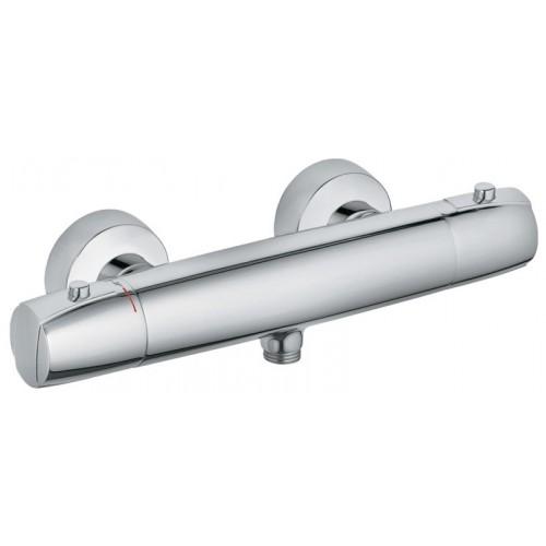 MX 354300538 ХромСмесители<br>Смеситель для душа Kludi MX 354300538 с термостатом. В комплект входят: рукоятка выбора температуры с ограничителем горячей воды при 38 °C,керамическая кран-букса 180°, защита от обратного тока воды, ненагревающийся корпус, фильтры очистные, отвод для душа G 1/2, 50% ограничитель подачи воды. Покрытие хром.<br>