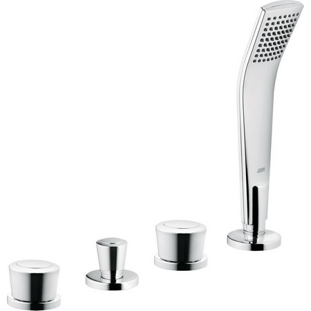 Joop 554260505 ХромСмесители<br>Смеситель для ванны Kludi Joop 554260505 с двумя цилиндровыми рукоятками, без излива для ванны. В комплект входят: автоматическое переключение душ/ванна, вытягивающаяся душевая лейка, душевой шланг 1500 мм, напорный шланг 500 мм. Защищен от обратного тока воды. Покрытие хром.<br>