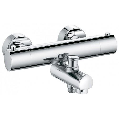 Objekta 352600538 ХромСмесители<br>Смеситель для ванны Kludi Objekta 352600538 с термостатом. В комплект входят: рукоятка выбора температуры с ограничителем горячей воды при 38°Cс запорным вентилем, 50% ограничитель подачи воды, защита от обратного тока воды, фильтры очистные, автоматическое переключение душ/ванна, отвод для душа G 1/2. Покрытие хром.<br>