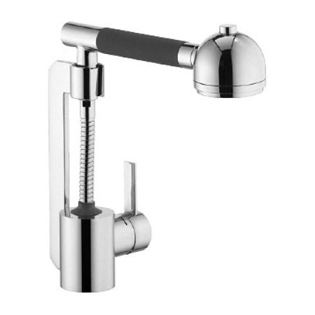 Zip 42101Z175 ХромСмесители<br>Смеситель для кухни Kludi Zip 42101Z175 одноразовый. В комплект входят: керамический картридж с ограничителем горячей воды, вертикально вынимающийся душ, каскадный аэратор M 24 x 1, автоматическое переключение, душ/нормальная струя, гибкая подводка G 3/8, защита от обратного тока воды. Покрытие хром.<br>