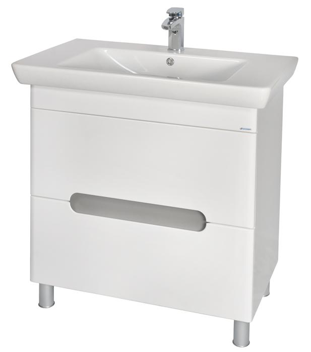 Бостон 65 БелыйМебель для ванной<br>Тумба с умывальником Аква Родос Бостон 65 с амортизаторами на дверцах. Цвет белый.<br>
