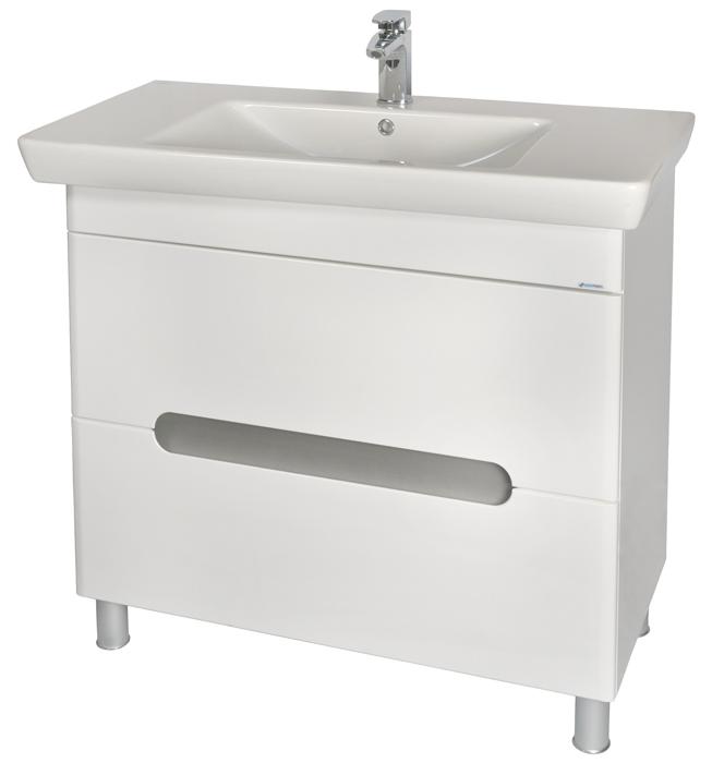 Бостон 95 БелыйМебель для ванной<br>Тумба с умывальником Аква Родос Бостон 95 с амортизаторами на дверцах.<br>