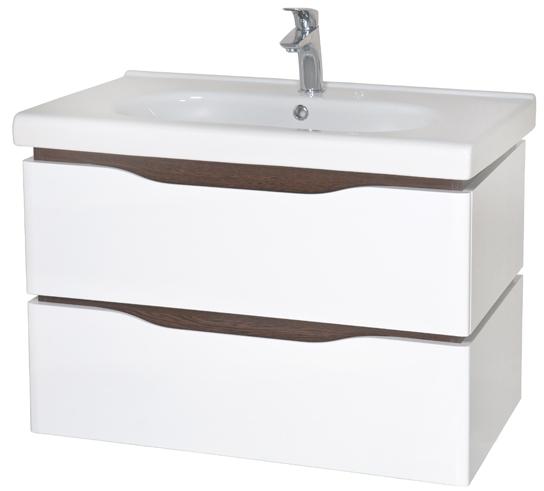 Венеция 80 подвесная ВенгеМебель для ванной<br>Тумба с умывальником Аква Родос Венеция 80 подвесная. Цвет венге.<br>