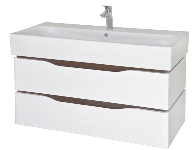 Венеция 100 подвесная ВенгеМебель для ванной<br>Тумба с умывальником Аква Родос Венеция 100 подвесная. Цвет венге.<br>