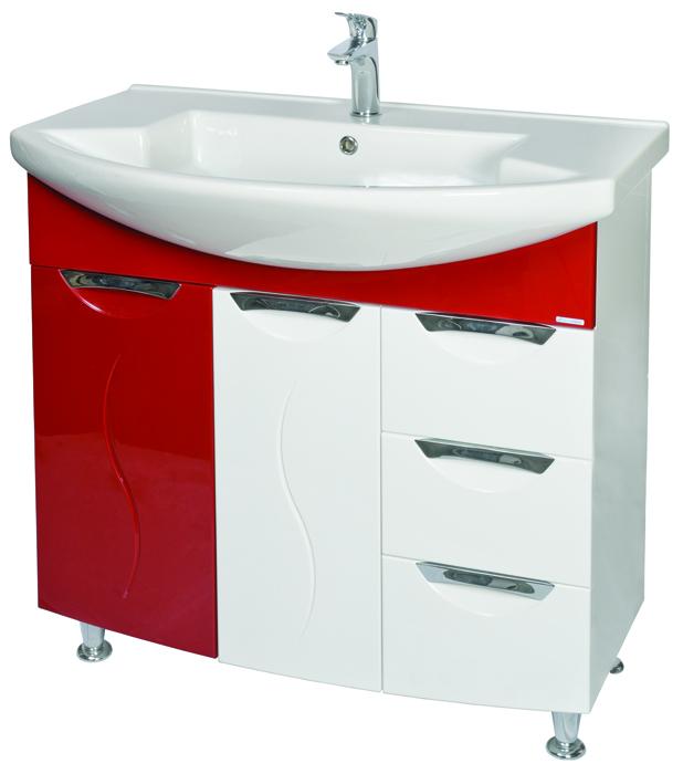 Премиум 90 ЧерныйМебель для ванной<br>Тумба с умывальником Аква Родос Премиум 90 напольная. Цвет черный.<br>