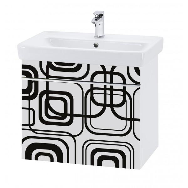 Vision 70 Мотив ИндивидуальныйМебель для ванной<br>Тумба подвесная VISION-70 под умывальник Q-70, мотив Индивидуальный.<br>