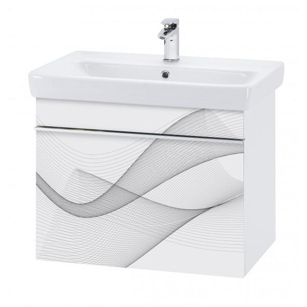 Vision 80  Мотив ПисьмоМебель для ванной<br>Тумба подвесная VISION-80 под умывальник Q-80, мотив Письмо.<br>