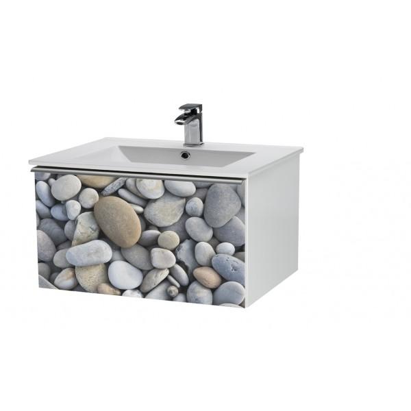 Image 90 Рисунок индивидуальныйМебель для ванной<br>Тумба подвесная IMAGE-90 под умывальник SLIM-90, мотив - Индивидуальный.<br>
