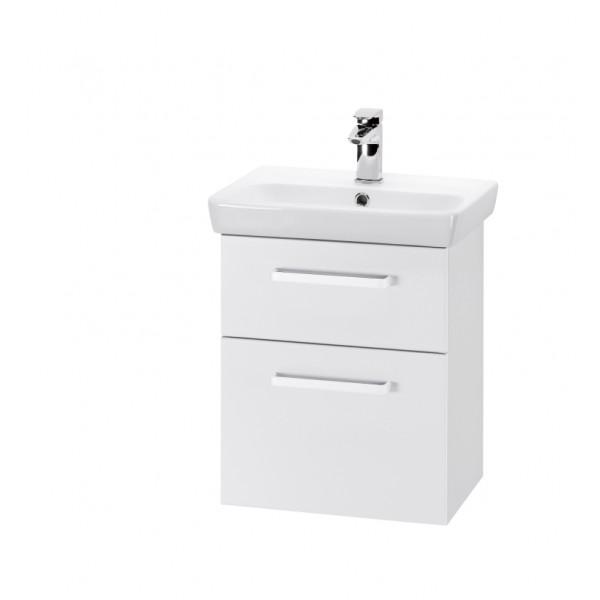 GO 50 S Белый глянец, ручка АМебель для ванной<br>Тумба подвесная GO-50 S под умывальник Мини-50,белый глянец,ручка-А.<br>