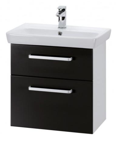 GO 55 S Черный глянец, ручка АМебель для ванной<br>Тумба подвесная GO-55 S под умывальник Мини-55черный глянец,ручка-А.<br>