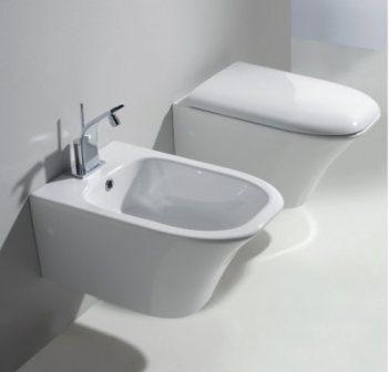 Amica BAMIS ПодвесноеБиде<br>Биде Nero Ceramica Amica BAMIS подвесное, размер 560x365 мм, белое.<br>