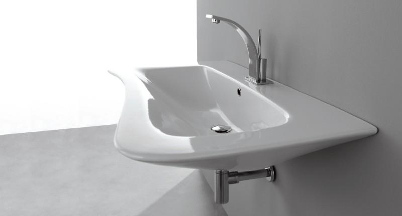 Amica LAMI80 ПодвеснаяРаковины<br>Раковина подвесная Nero Ceramica Amica LAMI80. Размер 800x550x200 мм, цвет белый.<br>