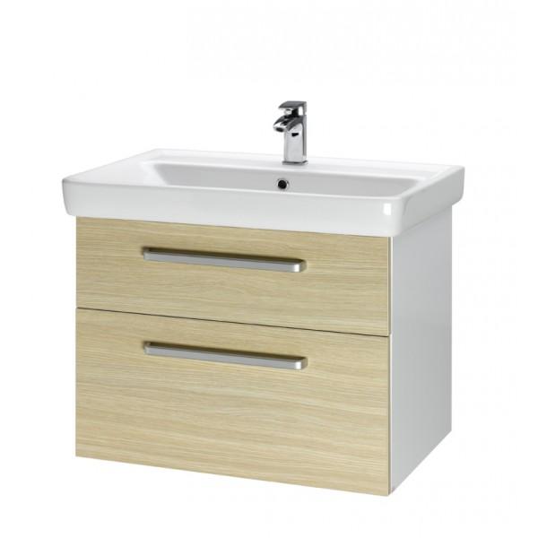 Q MAX 70 Дуб, ручка АМебель для ванной<br>Тумба подвесная Q MAX-70 под умывальник Q-70,дуб, ручка-А.<br>