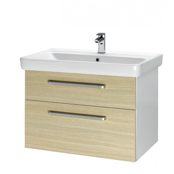 Q MAX 80 Береза, ручка АМебель для ванной<br>Тумба подвесная Q MAX-80 под умывальник Q-80,береза, ручка-А.<br>