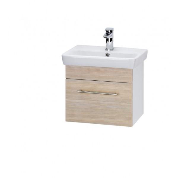 SOLO 50 ДубМебель для ванной<br>Тумба подвесная SOLO-50 под умывальник Мини-50, дуб.<br>