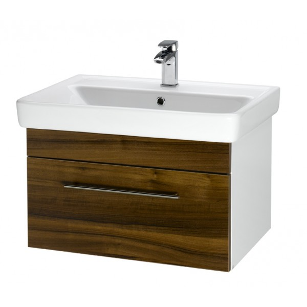 Q UNO 70 ДубМебель для ванной<br>Тумба подвесная Q UNO-70 под умывальник Q-70, дуб.<br>