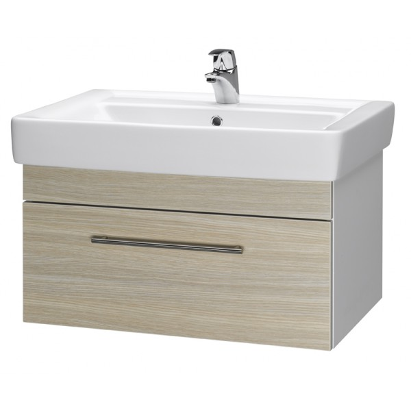 Q UNO 80 ОрехМебель для ванной<br>Тумба подвесная Q UNO-80 под умывальник Q-80, орех.<br>