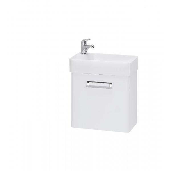DOOR 44 БелыйМебель для ванной<br>Тумба под раковину DOOR-44 Мини-44 подвесная, прямоугольная. Раковина и все остальное приобретается дополнительно.<br>