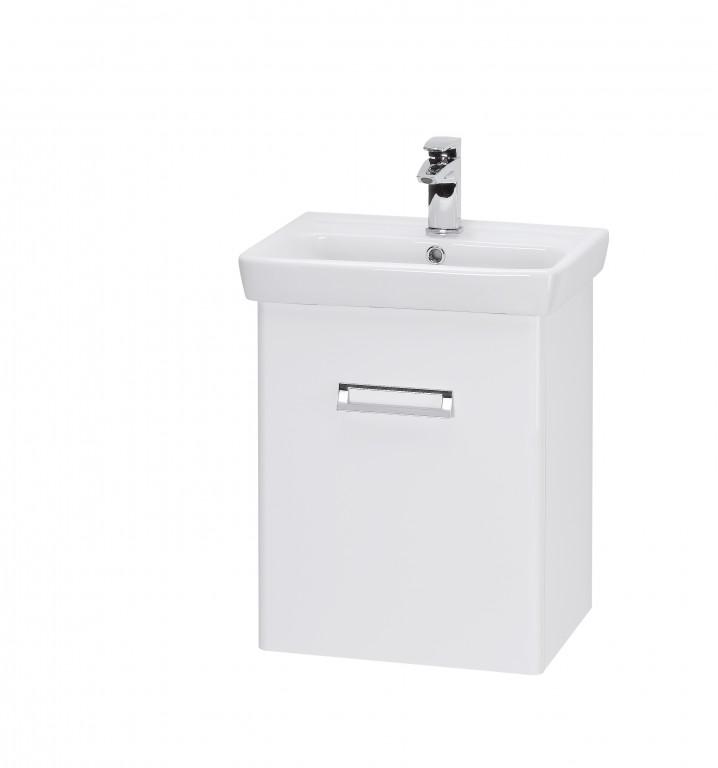 DOOR 50 БелыйМебель для ванной<br>Тумба подвесная DOOR-50 под умывальник Мини-50, белый.<br>