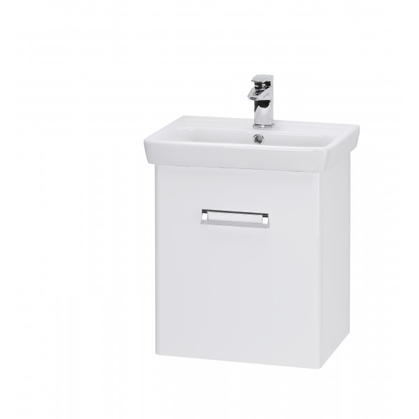 DOOR 55 БелыйМебель для ванной<br>Тумба подвесная DOOR-55 под умывальник Мини-55, белый.<br>