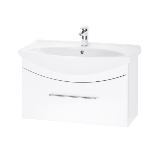 WIND 85 БелыйМебель для ванной<br>Тумба подвесная WIND-85 под умывальник Лагуна-85, белый.<br>