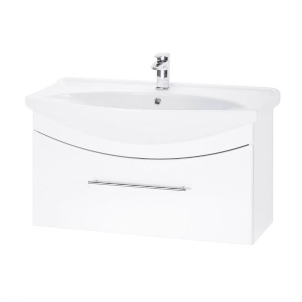 WIND 105 БелыйМебель для ванной<br>Тумба подвесная WIND-105 под умывальник Лагуна-105, белый.<br>