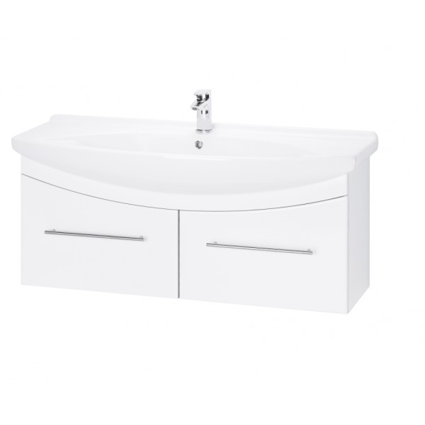 WIND 120 БелыйМебель для ванной<br>Тумба подвесная WIND-120 под умывальник Лагуна-120, белый.<br>