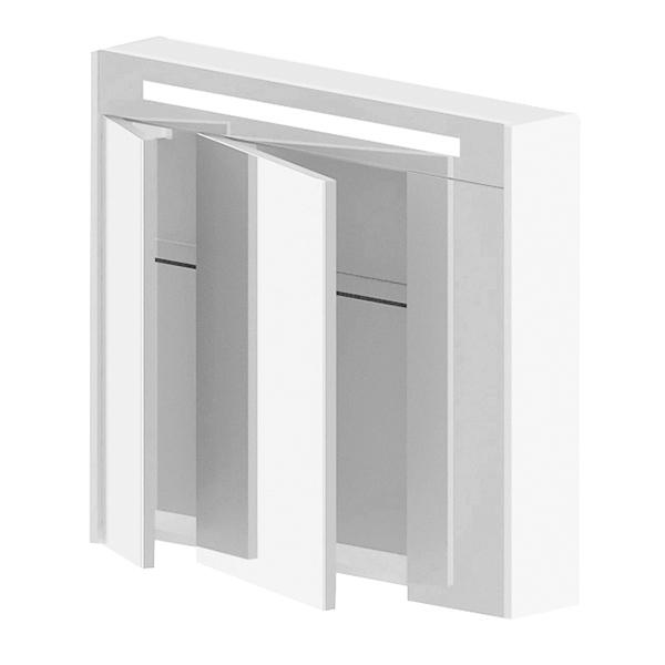 Венеция 80 в цвете RALМебель для ванной<br>Зеркальный шкаф Astra Form Венеция 80 c одним встроенным горизонтальным светильником.<br>