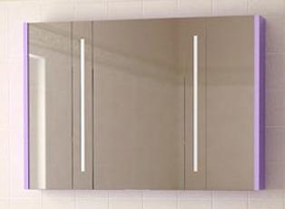 Венеция 100 белыйМебель для ванной<br>Венеция 100 зеркальный шкаф с двумя встроенными светильниками.<br>