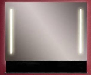 Альфа 70 белыйМебель для ванной<br>Альфа 70 зеркало с двумя встроенными светильниками и стеклянной полкой.<br>