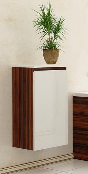 Альфа белыйМебель для ванной<br>Полупенал Альфа правый с одной распашной дверцей.<br>