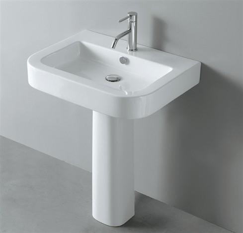 Genesi LA65 БелаяРаковины<br>Раковина подвесная Nero Ceramica Genesi LA65. Размер 650x500 мм, цвет белый. Пьедестал приобретается отдельно.<br>