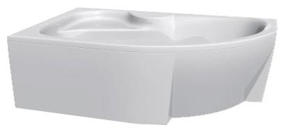 Azalia 160 без гидромассажа RВанны<br>Vayer Azalia 160 правая нестандартная акриловая ванна.<br>