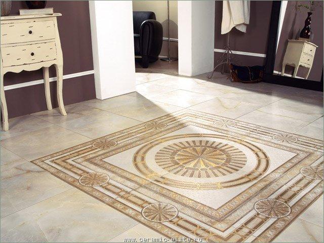 Керамическая плитка Porcelanite Dos 5008 Cenefa Ivory Rodas 25х50 бордюр