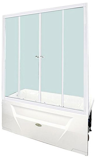 Ларедо профиль белый, стекло прозрачноеДушевые ограждения<br>Шторка на ванну Радомир Ларедо с двумя раздвижными створками, с белым алюминиевым профилем и прозрачным стеклом. Цена указана за шторку на ванну. Все остальное приобретается дополнительно.<br>